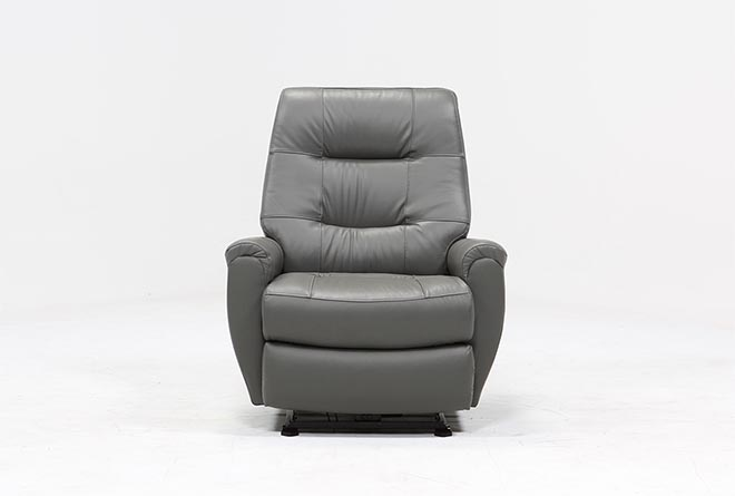 Rogan Leather Grey Power Wallaway Recliner - 360