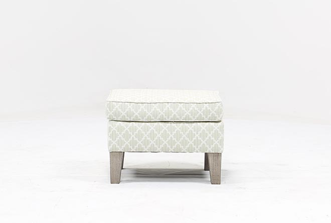 Bailey Ottoman W/Greywash Finish - 360