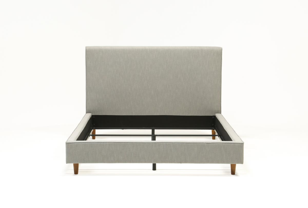 Dean Charcoal Queen Upholstered Panel Bed Living Spaces