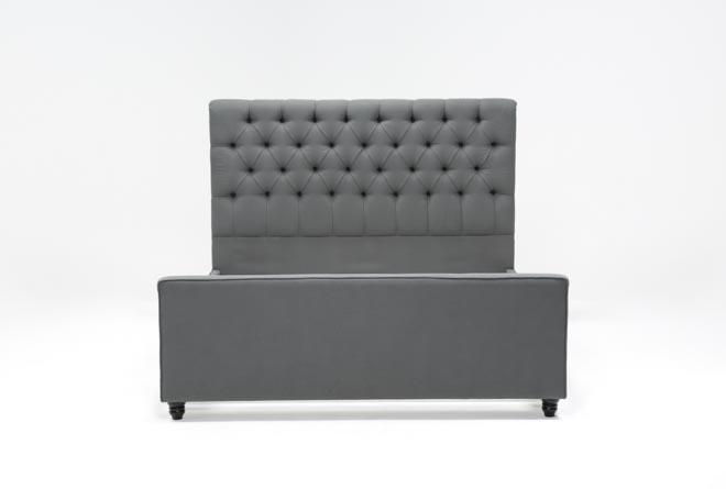 Leighton California King Upholstered Panel Bed