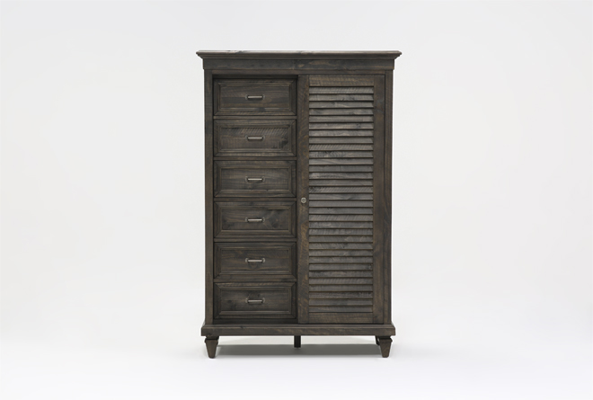 Valencia Sliding Door Gentlemans Chest - 360