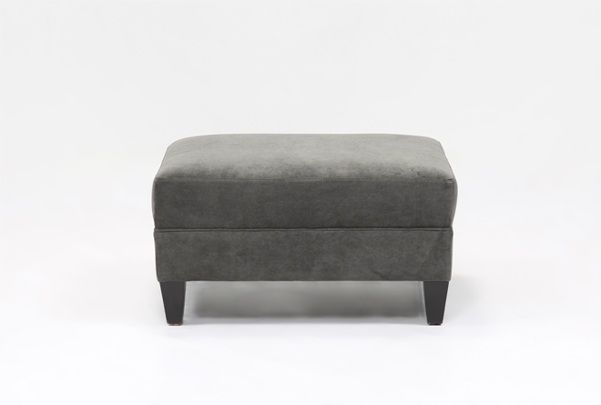 Adler Fabric Medium Square Ottoman - 360