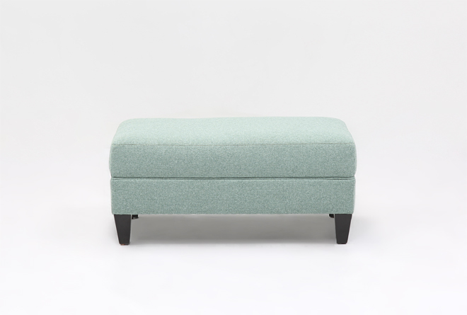 Adler Fabric Small Rectangle Ottoman Living Spaces