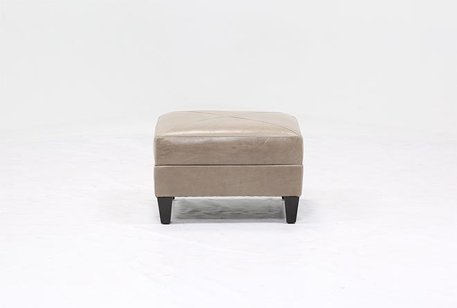 Adler Leather Small Square Ottoman - 360