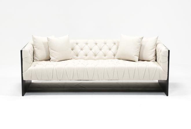 Tufted Wood Frame Sofa - 360
