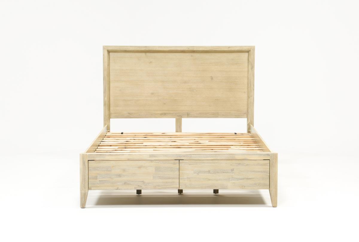 Allen Queen Panel Bed W/Storage   Living Spaces
