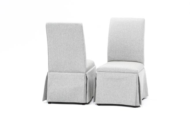 Garten Pashmina Skirted Side Chairs Set Of 2 - 360