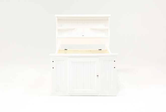 Summit White Twin Bookcase Bed With Single 4-Drawer Storage Unit - 360