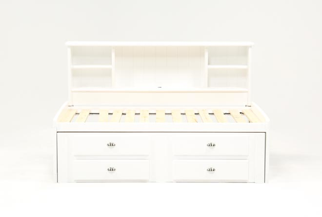 Summit White Twin Roomsaver Bed With 4-Drawer Storage Unit - 360