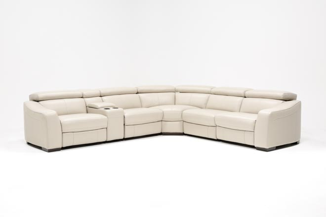 Kristen Silver Grey 6 Piece Power Reclining Sectional - 360