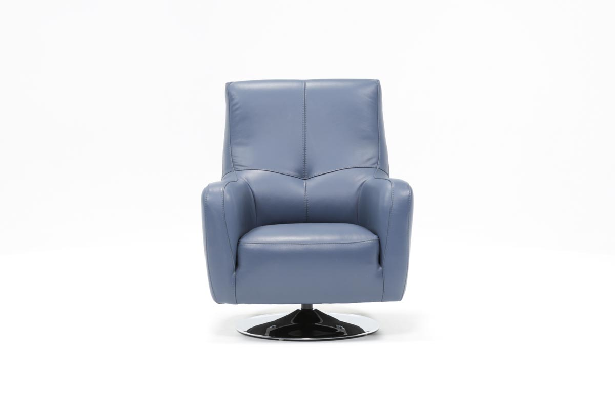 Kawai Leather Swivel Chair   Living Spaces