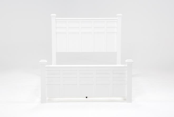 Bayside White California King Poster Bed - 360