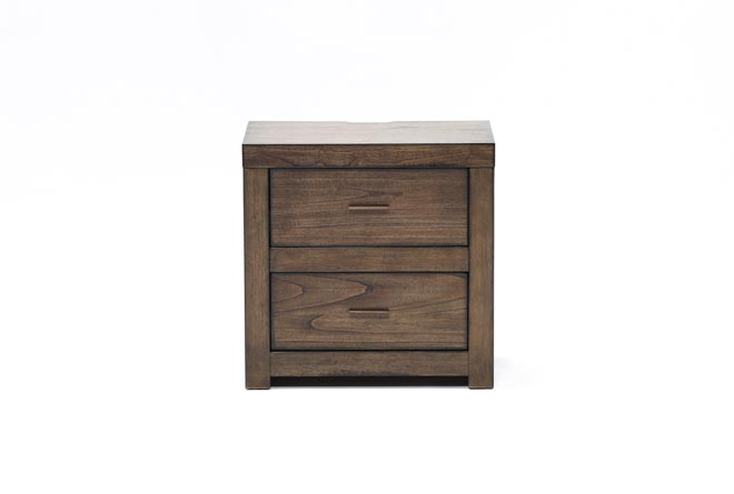 Riley Brownstone 2-Drawer Nightstand - 360