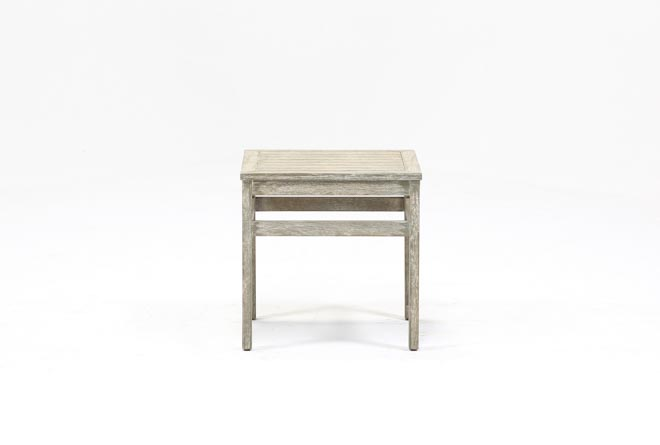 Outdoor Pompeii End Table W/Wood Top - 360