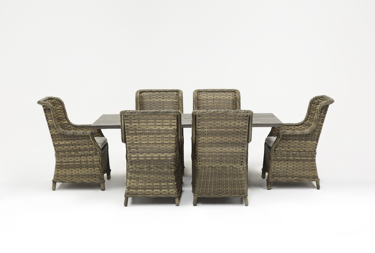outdoor tortuga 7 piece dining set w aventura side chair living spaces