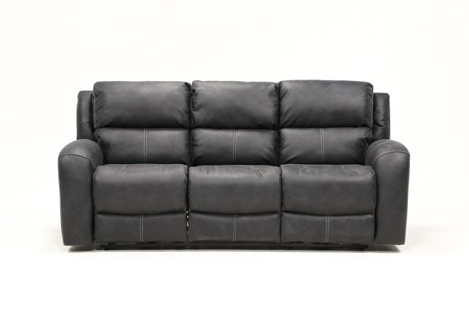 Deegan Charcoal Power Reclining Sofa - 360