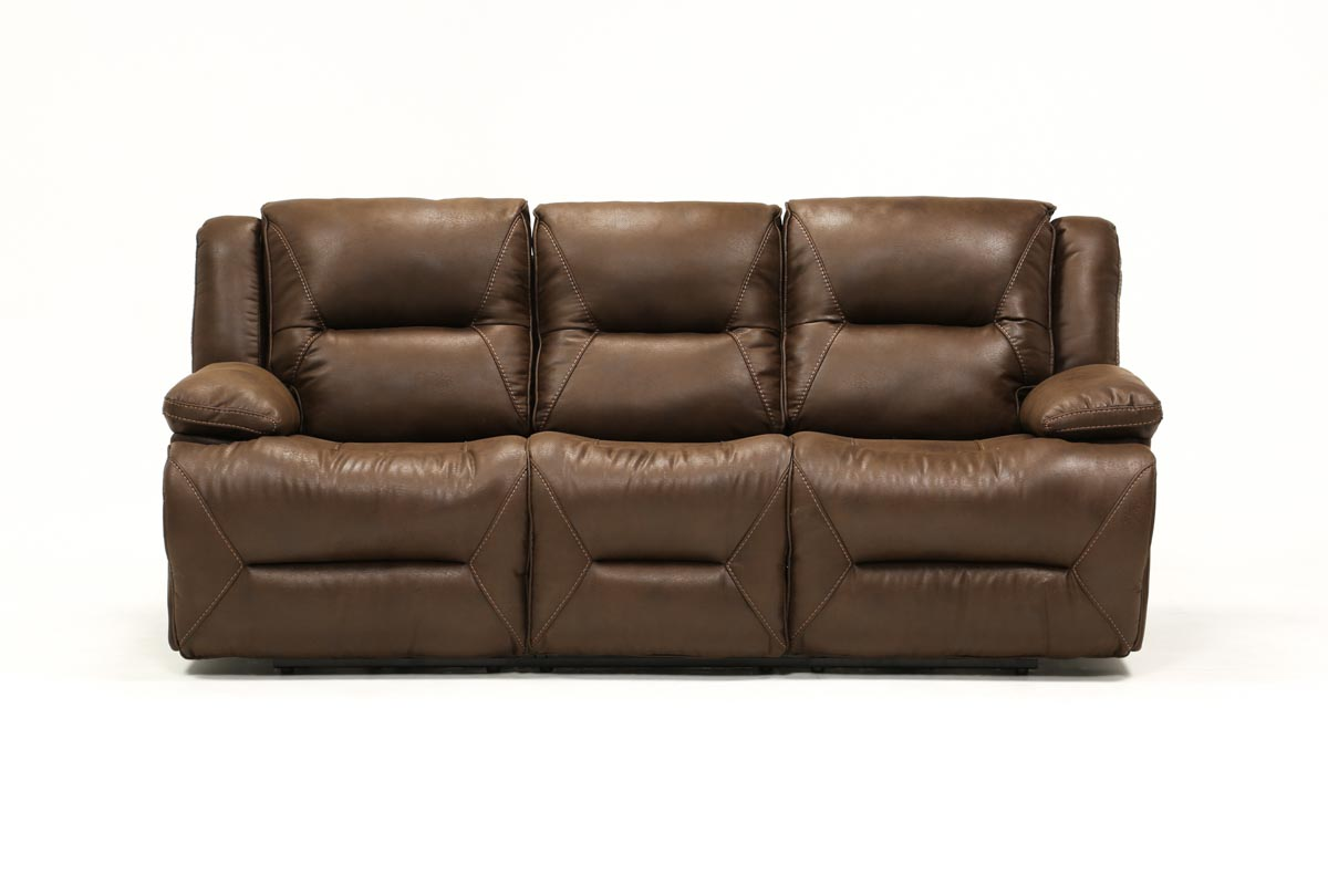Calder Brown Reclining Sofa 360