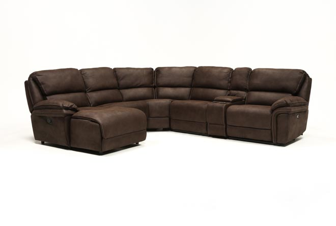 Norfolk Chocolate 6 Piece Sectional W/Laf Chaise - 360
