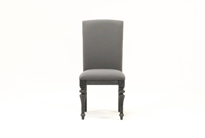 Caira Black Upholstered Side Chair - 360
