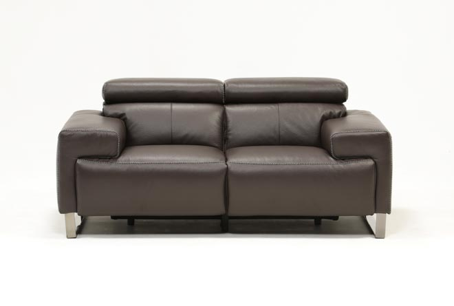 Carlo Leather Power Reclining Loveseat W/Usb - 360