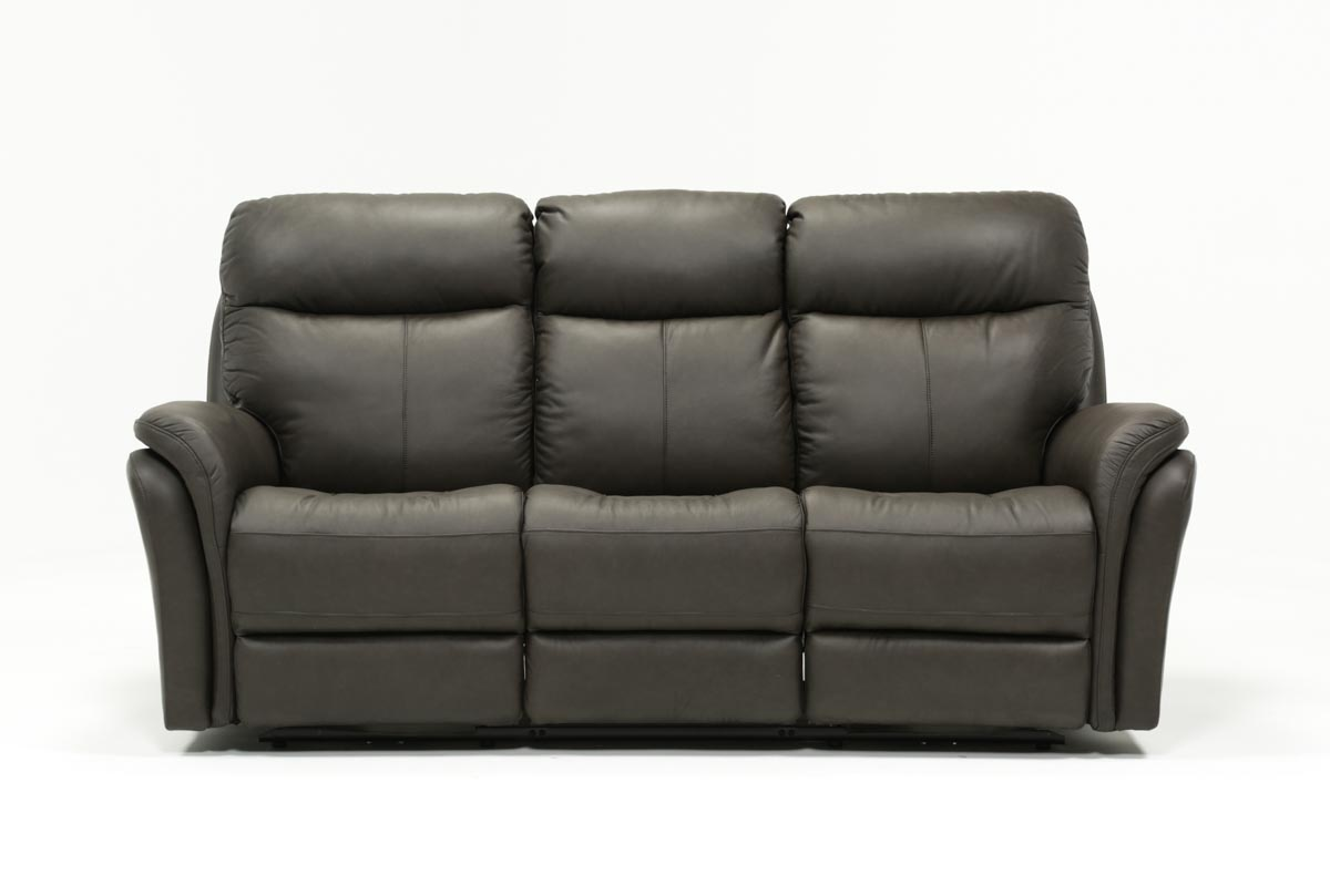 Fabulous Bowie Leather Power Reclining Sofa W Power Headrest Gmtry Best Dining Table And Chair Ideas Images Gmtryco