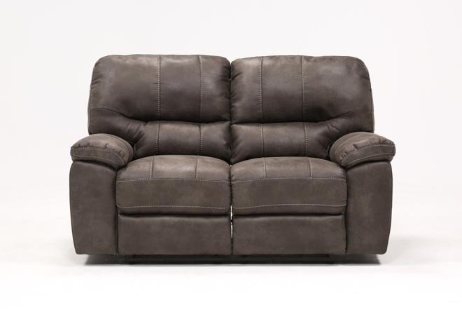Neve Grey Reclining Loveseat - 360