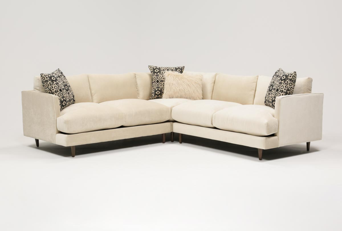 adeline 3 piece sectional living spaces