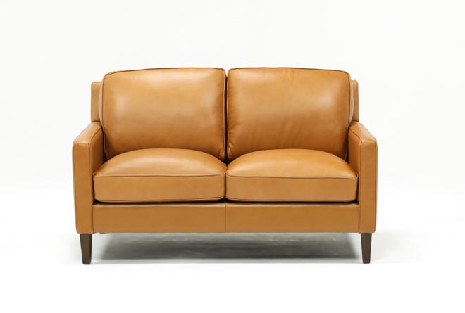 Candace Leather Loveseat - 360