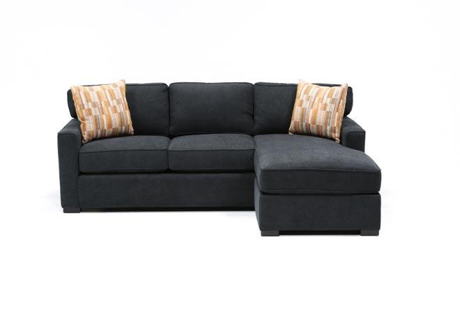 Taren Reversible Sofa/Chaise Sleeper W/Storage Ottoman   360