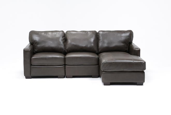 Redford Coffee 3 Piece Right Facing Chaise Sectional - 360