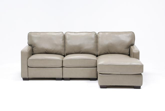 Redford Mushroom 3 Piece Right Facing Chaise Sectional - 360