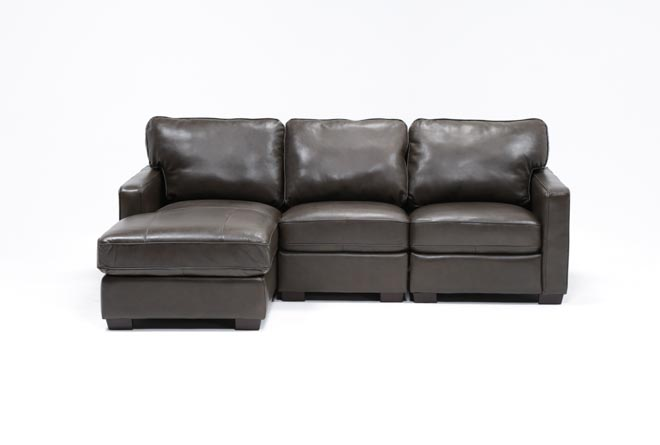 Redford Coffee 3 Piece Left Facing Chaise Sectional - 360