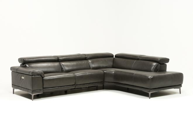Tatum Dark Grey 2 Piece Sectional W/Raf Chaise - 360