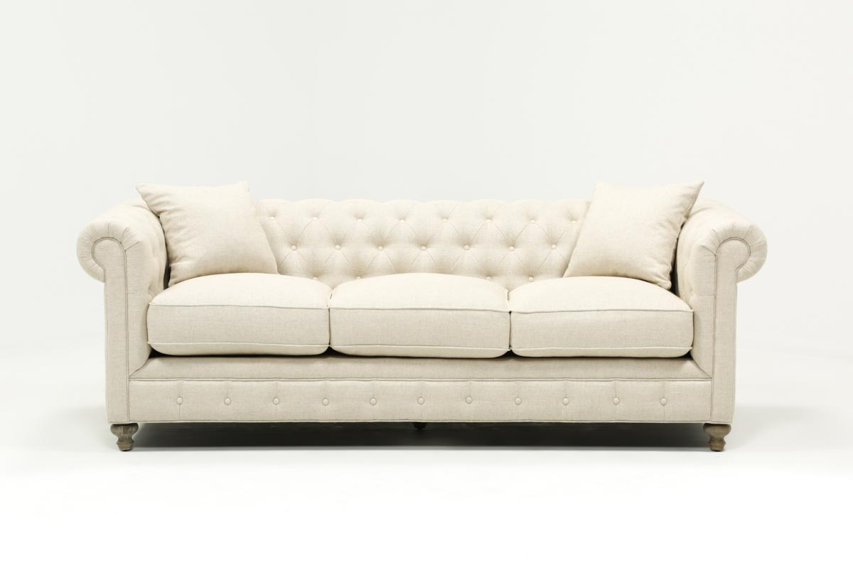 96 Inch Sofa Napa Leather Sofa Contemporary Sofas By