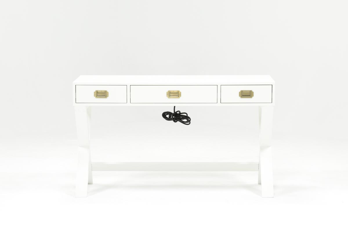Adams White Desk 360