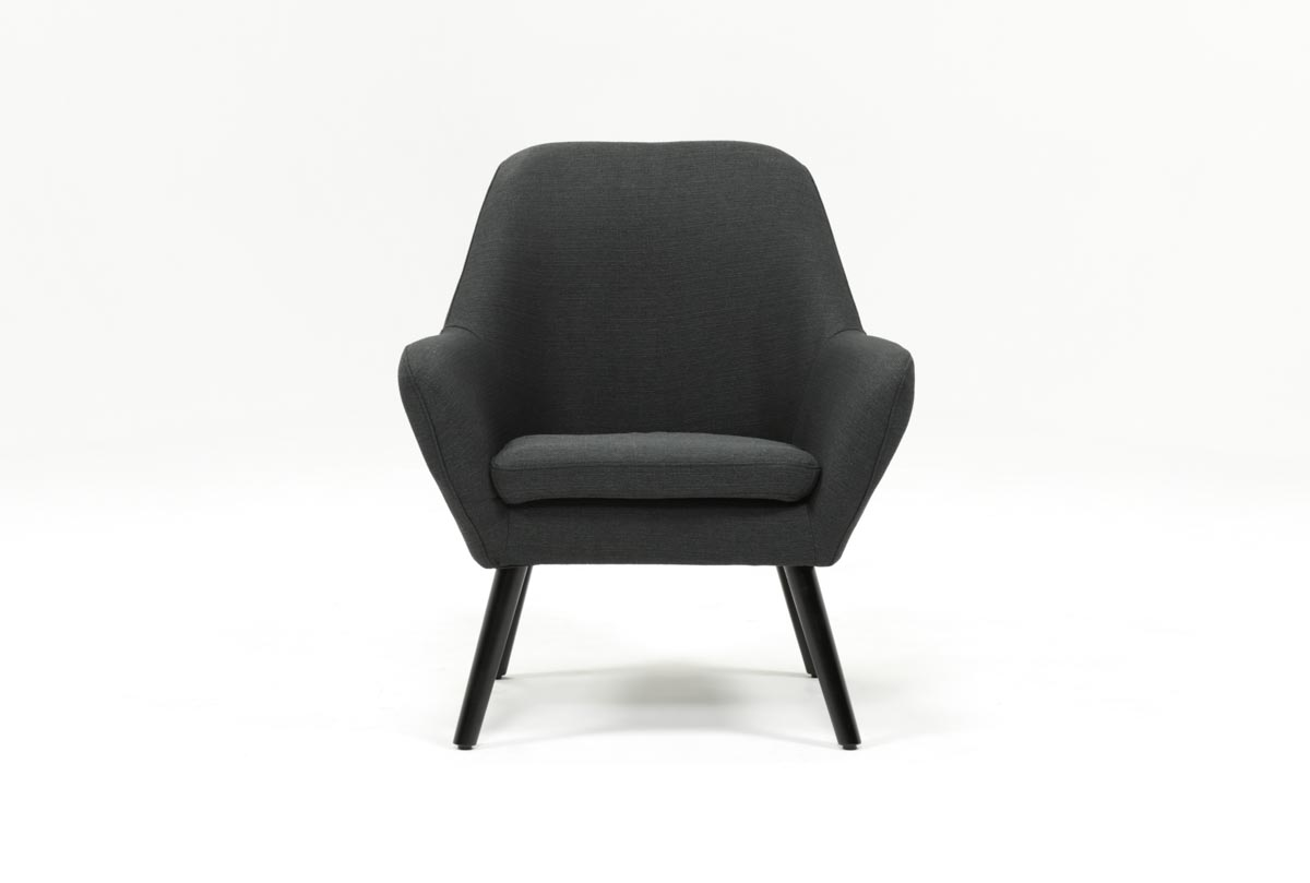 Mercury Dark Grey Accent Chair Living Spaces