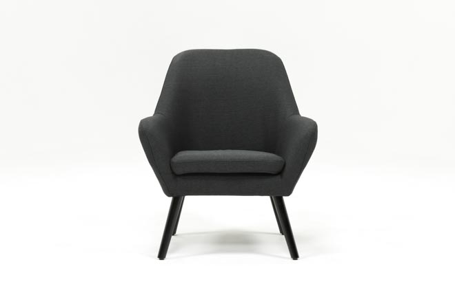 Mercury Dark Grey Accent Chair - 360