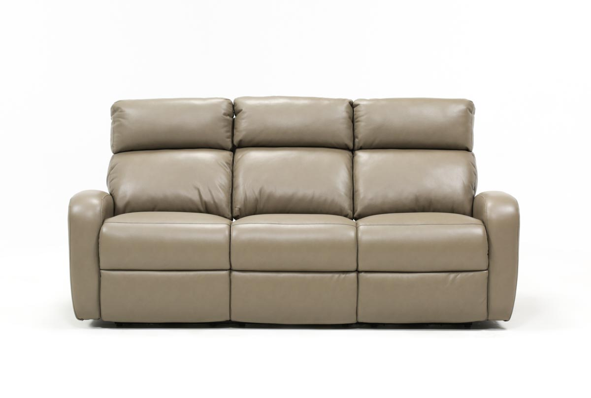 Completely new Darwin Taupe Power Reclining Sofa | Living Spaces PK92