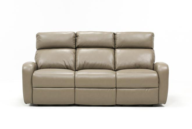 Darwin Taupe Power Reclining Sofa - 360