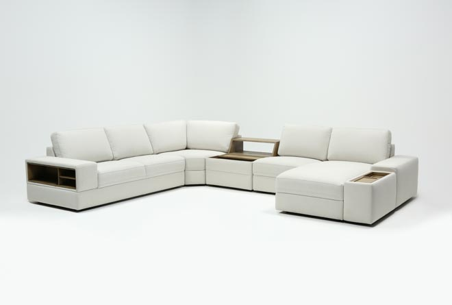 Larimar Stone 5 Piece Sectional W/Raf Chaise & Usb - 360