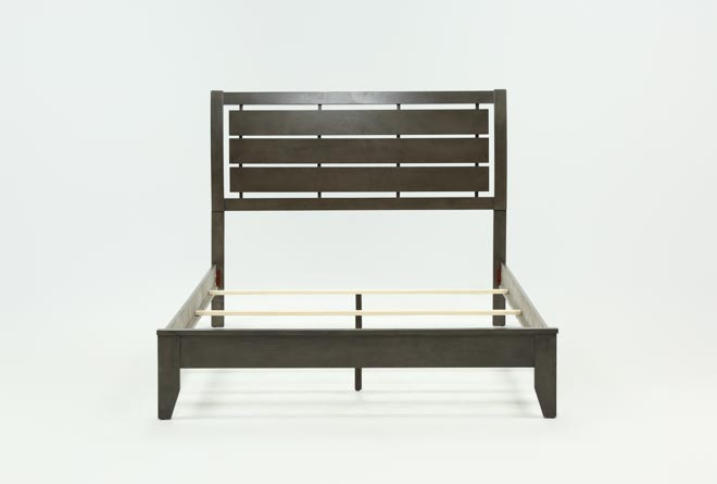 Chad Grey California King Panel Bed - 360