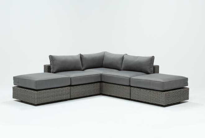 Outdoor Koro 5 Piece Sectional W/2 Ottomans - 360
