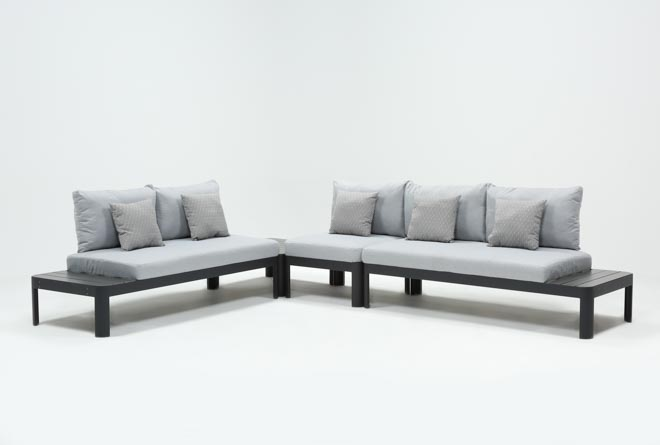 Outdoor Andaz 3 Piece Sectional & Cocktail Table - 360