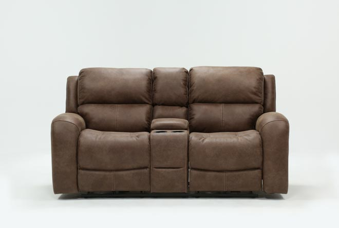 Deegan Bark Power Reclining Loveseat - 360