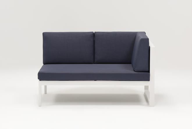 Outdoor Biscayne II Navy Right Facing Loveseat - 360