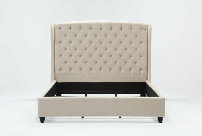 Mariah Queen Upholstered Panel Bed - 360