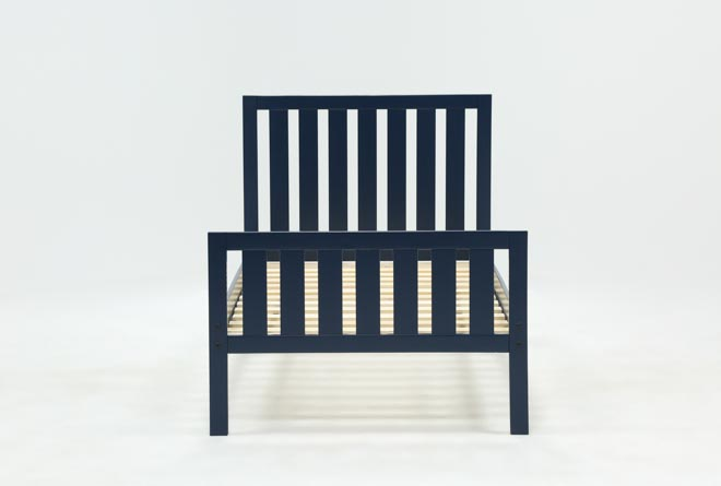 Taylor Navy Twin Slat Panel Bed - 360