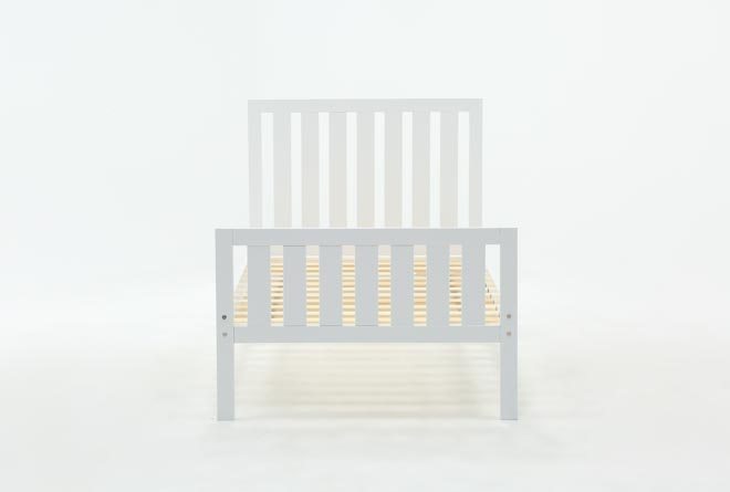 Taylor White Twin Slat Panel Bed - 360