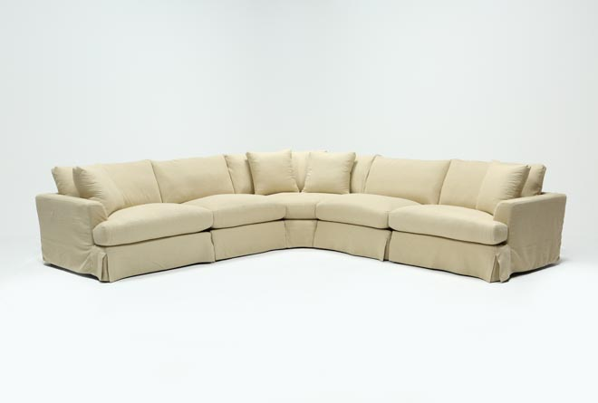 Solano Slipcovered 5 Piece Sectional - 360