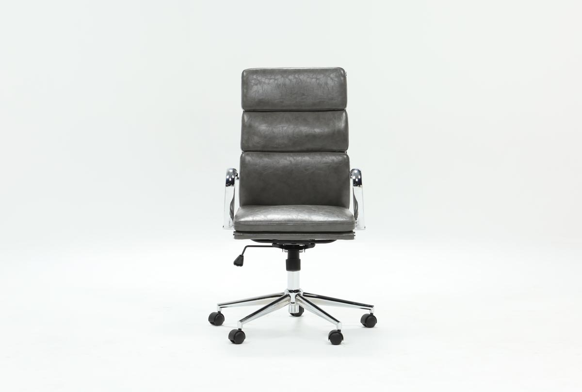 Moby Grey High Back Office Chair 360
